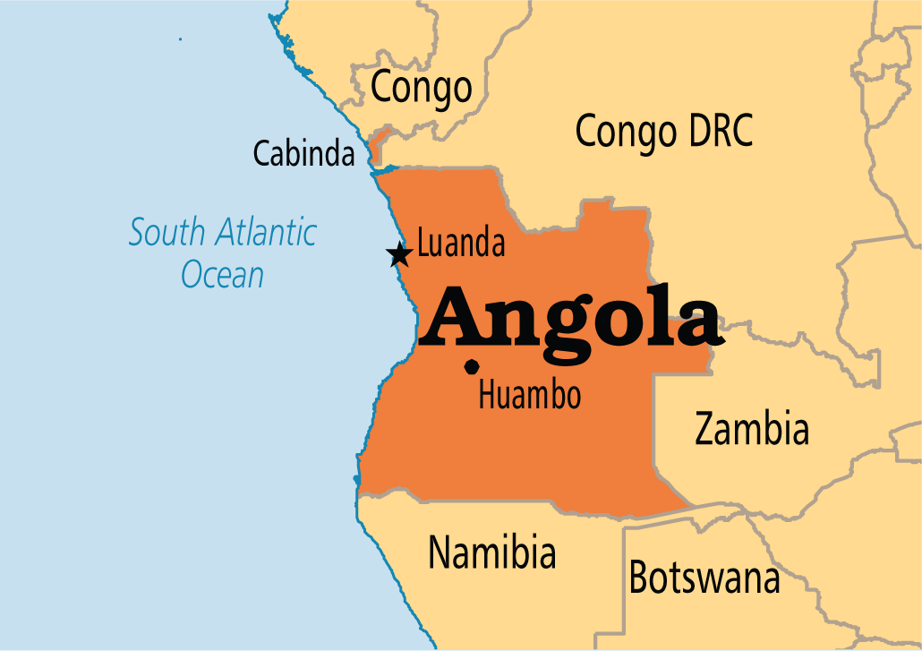 Angola Haritası